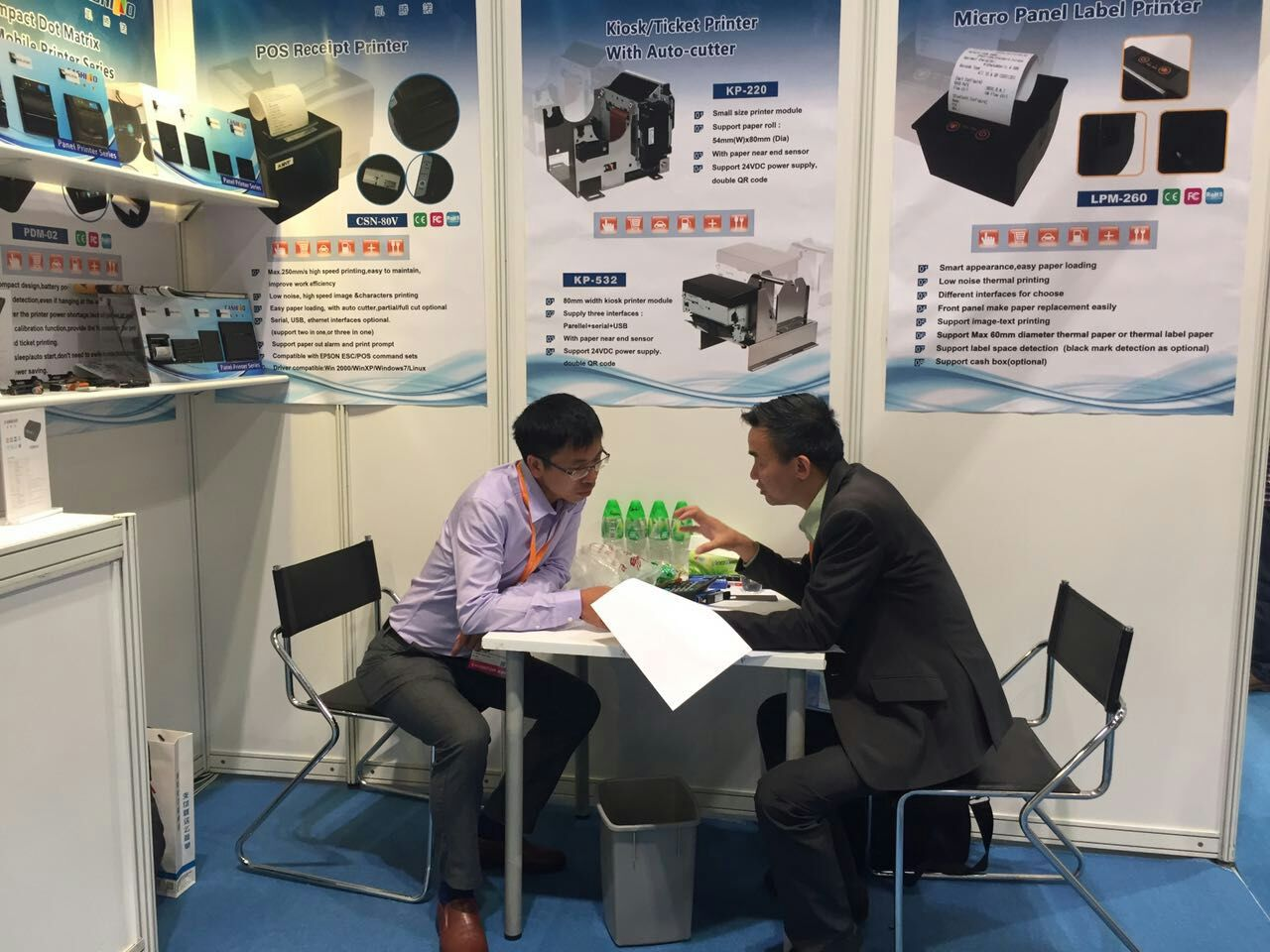 CASHINO Micro Thermal Printers Displayed Successfully In 2017 Hong Kong Electronic Fair