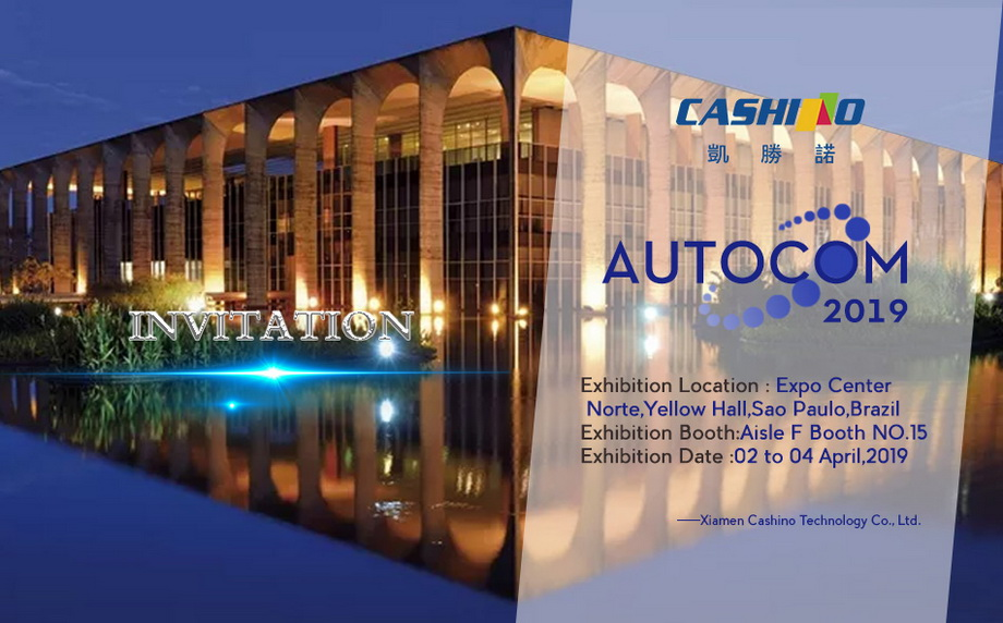 Cashino Invites you to visit AUTOCOM 2019 in Brazil