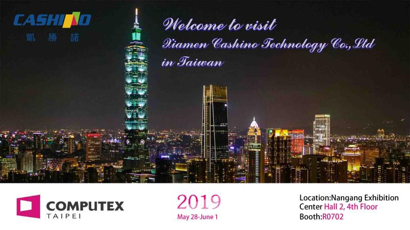 Cashino will attend the Computex Taipei 2019
